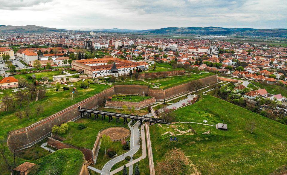 Cetatea Alba Iulia-vedere aeriană/Foto: Zelu Popa